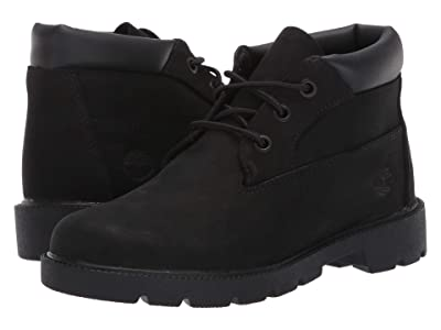 Timberland Kids 3 Eye Chukka (Big Kid) (Black Nubuck) Kids Shoes