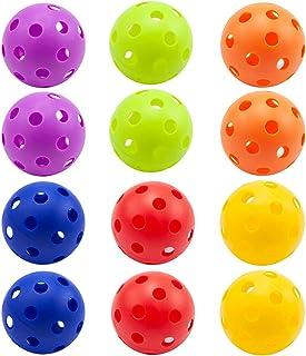 GSE Games & Sports Expert Regulation Size Training Practice Plastic Baseballs, Indoor Pickleballs, Airflow Hollow Softball...
