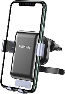 UGREEN Handyhalterung Auto Lüftung Autohalterung Schwerkraft mit Haken Handyhalter KFZ Telefon Auto Halter kompatibel mit iPhone 11 Pro, Galaxy, Xperia, Huawei P30, Xiaomi 10 Pro, Navi 4,7 7 Zoll