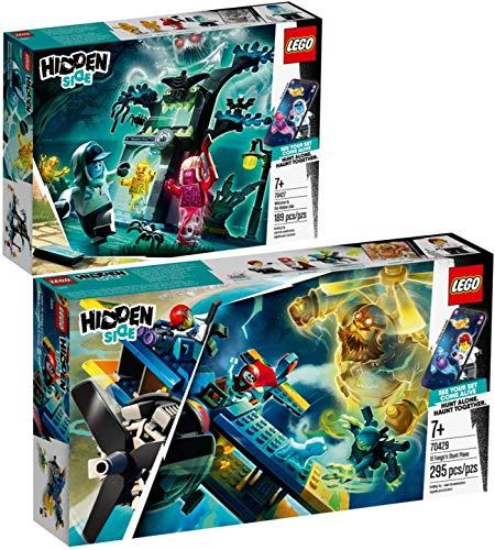 LEGO Hidden Set 70427 El mundo hanté de Hidden Side + 70429 El avión de voltilo de El Fuego