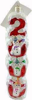 Christopher Radko MILLENIUM MAGIC Glass Christmas Ornament 2000 Snowman