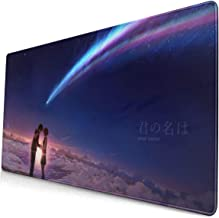 Anime Kimi No Na Wa Your Name 15.8x29.5 in Large Gaming Mouse Pad Desk Mat Long Non-Slip Rubber Stitched Edges