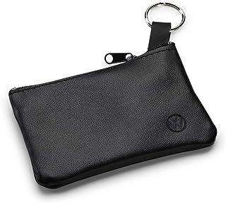 Volkswagen 000087402D sleuteltas etui lederen sleutelhanger, met nieuw VW logo, zwart