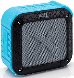 New Portable Outdoor and Shower Bluetooth 4.1 Speaker by SoundFit, Water Resistant, Wireless with 10 Hour Rechargeable Battery Life, Powerful Audio Driver, Pairs with All Bluetooth Device (Ocean Blue)