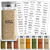 Talented Kitchen Clear Spice Labels - 125 Preprinted Labels: 121 Spice & Herbs Names + 4 Blank Write-On Sticker. Water Resistant, Spice Jar Label for Spice Organization Spice Rack (Set of 125 Spices)