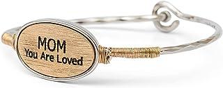 Elanze تصميم أمي أنت أحب الذهب والفضة لهجة حجم واحد يناسب معظم المعادن الإسورة مشبك سوار