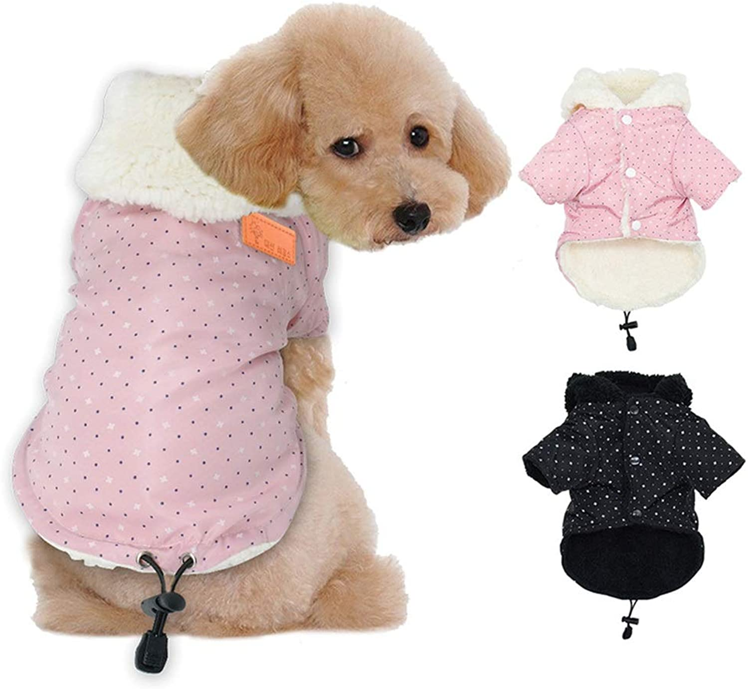 Dog Winter Coats, Dogs Suplement Dog Apparel Cold Weather, Puppy Warm Dog Coat Soft Cloth, Puppy Warm Winter Coats for Cats Small Medium Large Dogs