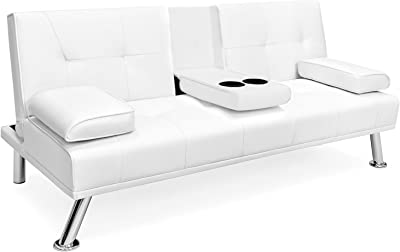 Amazon.com: Benchcraft - Aldie Nuvella Contemporary Sofa ...