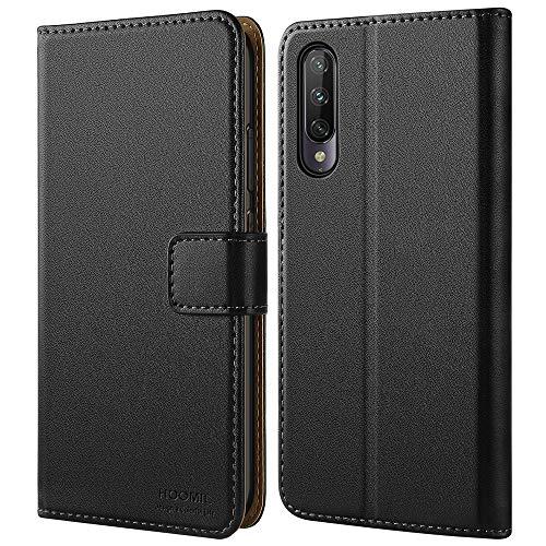 HOOMIL Cover per Xiaomi Mi A3, Flip Case in Pelle PU Premium Custodia per Xiaomi Mi A3 Smartphone - Nero