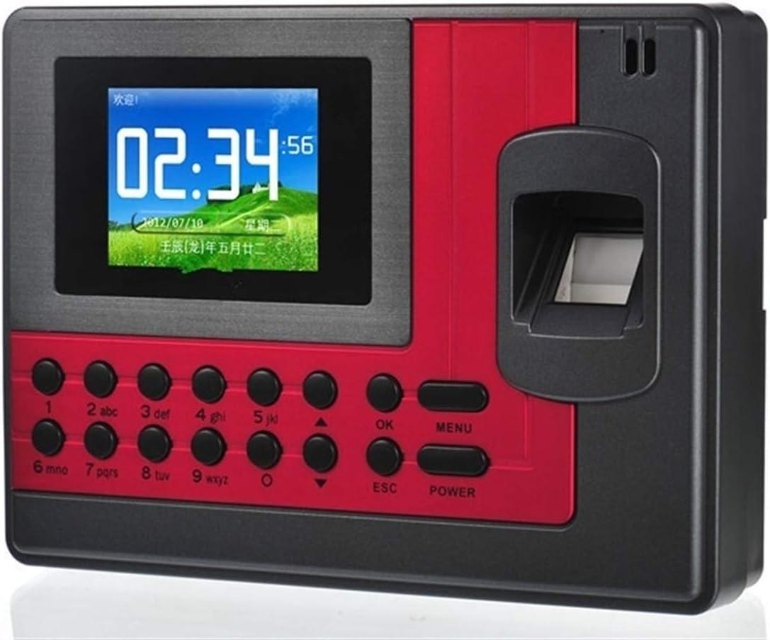 SHAOXI Maquina Asistencia de Fichar Huella Dactilar,Máqu Asistencia de Huellas Dactilares USB Máquina de Reloj de Tiempo del Empleado,Facilite el Seguimiento del Tiempo