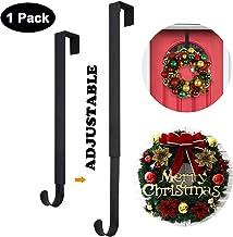 Wreath Hanger,Adjustable Wreath Hanger for Front Door from 14.9-25 Inch,20 lbs Larger Door Wreath Hanger Christmas Wreaths...