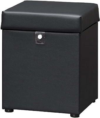 ケンホープ S6476 スツール クリオ 収納付 ブラック S6476 BK