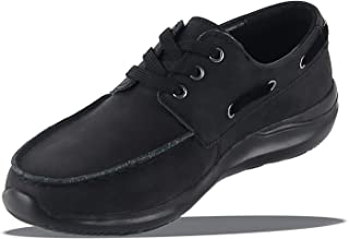 Men's Leather Handsewn Boat Shoe Lace Up Casual Shoes Classic Oxford Business Shoes