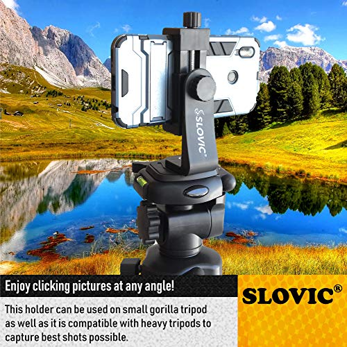 SLOVIC® Tripod Mount Adapter| Tripod Mobile Holder|Tripod Phone Mount(Made in India)| Smartphone Clip Clipper 360 Degree for Taking Magic Video Shots & Pictures.