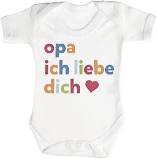 TRS Clothing TRS - Opa Ich Liebe Dich Baby Bodys/Strampler 100% Baumwolle