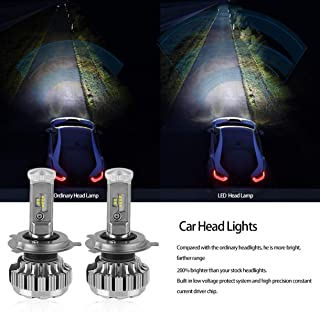 New Super bright Clear Beam Car Head Lights 6500K 252W 25200LM Head Lamp Throw Light On Road High Low Beam Bulb Set