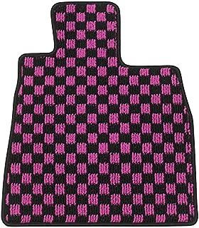 Elgan(エルガン) フロアマット(1台分) ドレスアップシリーズ チェック柄 ピンク トヨタ SAI 21.12-23.11 AZK10