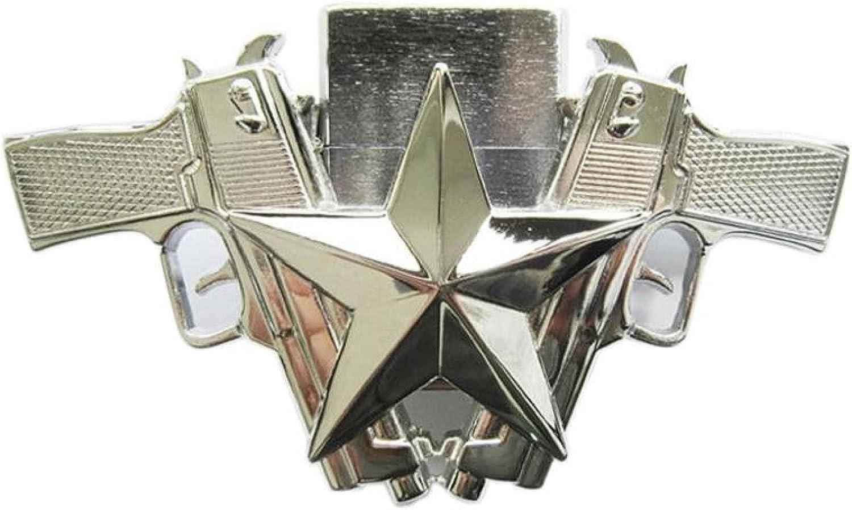 Bright OFFer Silver Guns Star Lighter Buckle BUCKLE-LT018BR Women Time sale Belt