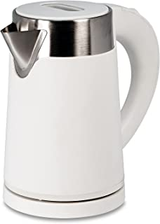 ステンレス 電気ケトル スピード沸騰80秒 ホワイト 800ml [おしゃれなカフェケトル] 空焚き防止 ステンレスケトル 湯沸かしポット 0.8L 電気ケトル ドリップ ポット 細口 コーヒー i001