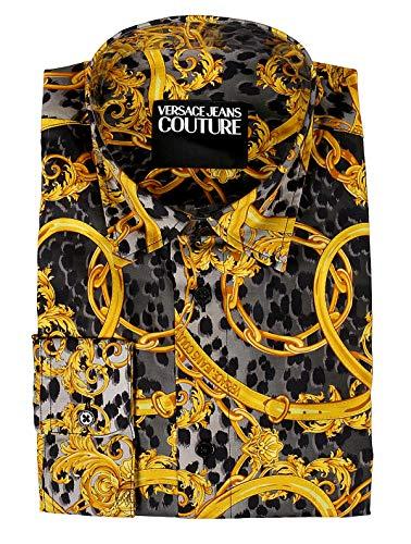 Versace Jeans Couture B1GVA6RA-SM200 Casual Herren, EB1GVA6RAESM200E899, Schwarz, EB1GVA6RAESM200E899 50