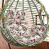 TPJJ Pays-Style Rattan Hanging Egg Chair Pads,Coussin Pliable De Chaise De Panier Suspendu,Terrasse Hammock Chaise Pads G