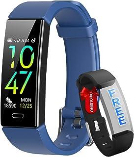HOFIT Fitness Tracker, reloj inteligente para actividad física, impermeable, IP68, presión arterial, pulsómetro, podómetro SmartWatch para hombre y mujer