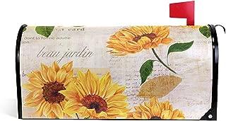 Patrón de girasol vintage Imprimir Post Box Letter Cover Mailbox Wrap para Home Garden Yard Decor21 'X 18'