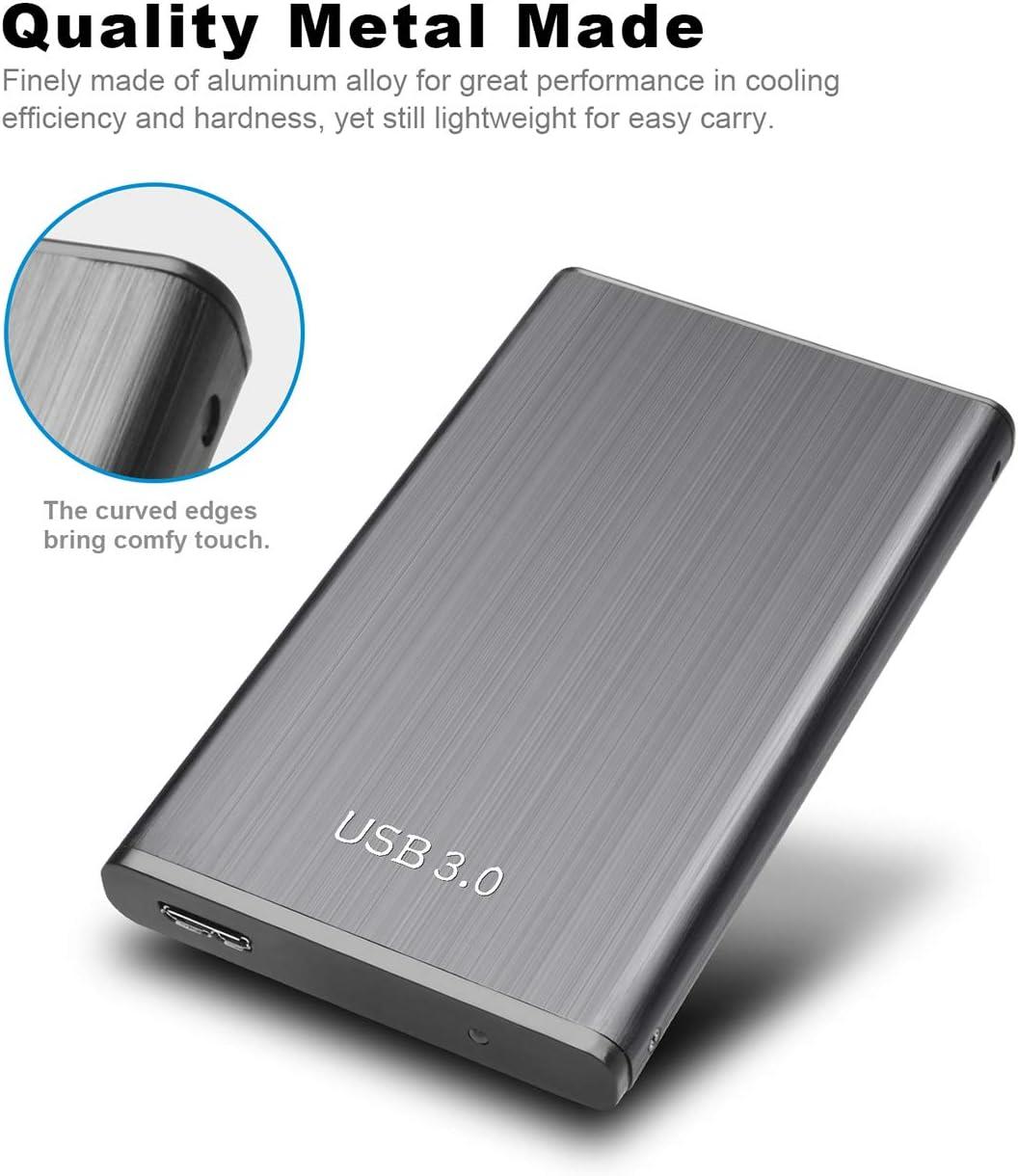 Chromebook 2tb, Azul MacBook Xbox Disco Duro Externo 2tb Port/átil 2.5 Mac USB3.0 SATA HDD Almacenamiento para PC