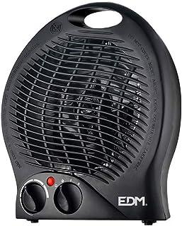 EDM Calefactor Vertical Suelo 1000-2000w Black Edition
