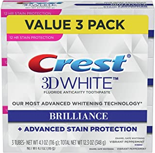 Crest Toothpaste 3D White Brilliance Vibrant Peppermint, 4.