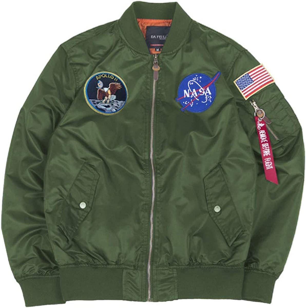 CORIRESHA Mens Apollo NASA Patches Manufacturer OFFicial shop Slim Max 53% OFF Jackets Fit Windb Bomber