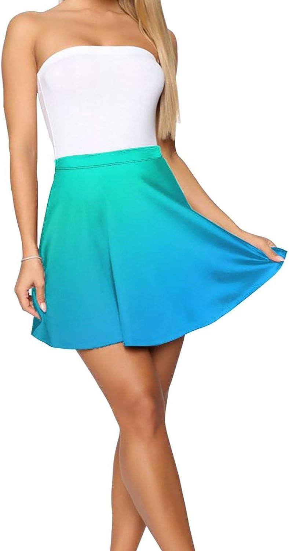 Sea Blue Mermaid Fish Scale (2) Women's Skater Skirt Cute Short Skirt