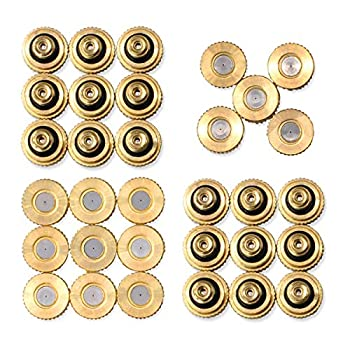 """Aootech 32 Pack Brass Misting Nozzles for Outdoor Cooling System 0.012"""" Orifice  0.3 mm  10/24 UNC"""