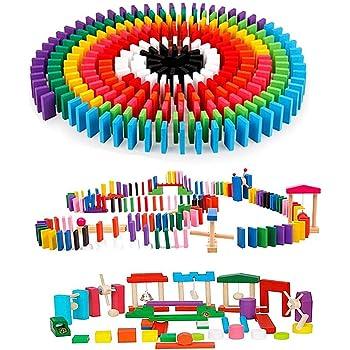 積み木 ドミノ倒し 木製おもちゃ 360個 ギミック 仕掛け 24種セット 日本語説明書 収納袋付き 並べる用道具 木製 カラフル Bajoy 木のおもちゃ 誕生日 クリスマス プレゼント 6+