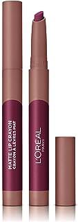 LOreal Paris Make-up Designer - Pintalabios Matte Crayón 107 Sizzling Sugar permanente morado - 22 ml