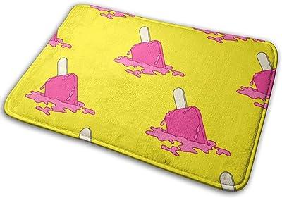 """Pink Ice Cream Dropped Indoor Doormat Front Back Door Mat,23.6""""x15.8"""" Mat Non Slip Large Door Rug"""