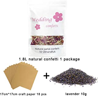 AOQING Flower Confetti Toss for Wedding - 100% Natural Dried Flower Petals Confetti Contain 15 Cone Papers (1)