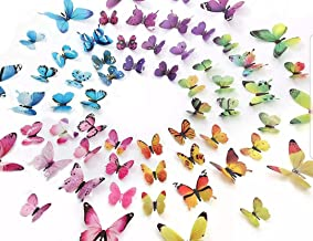 60 PCS Removable 3D Butterfly Wall Stickers Decals DIY Wall Art Decor Home Wall..