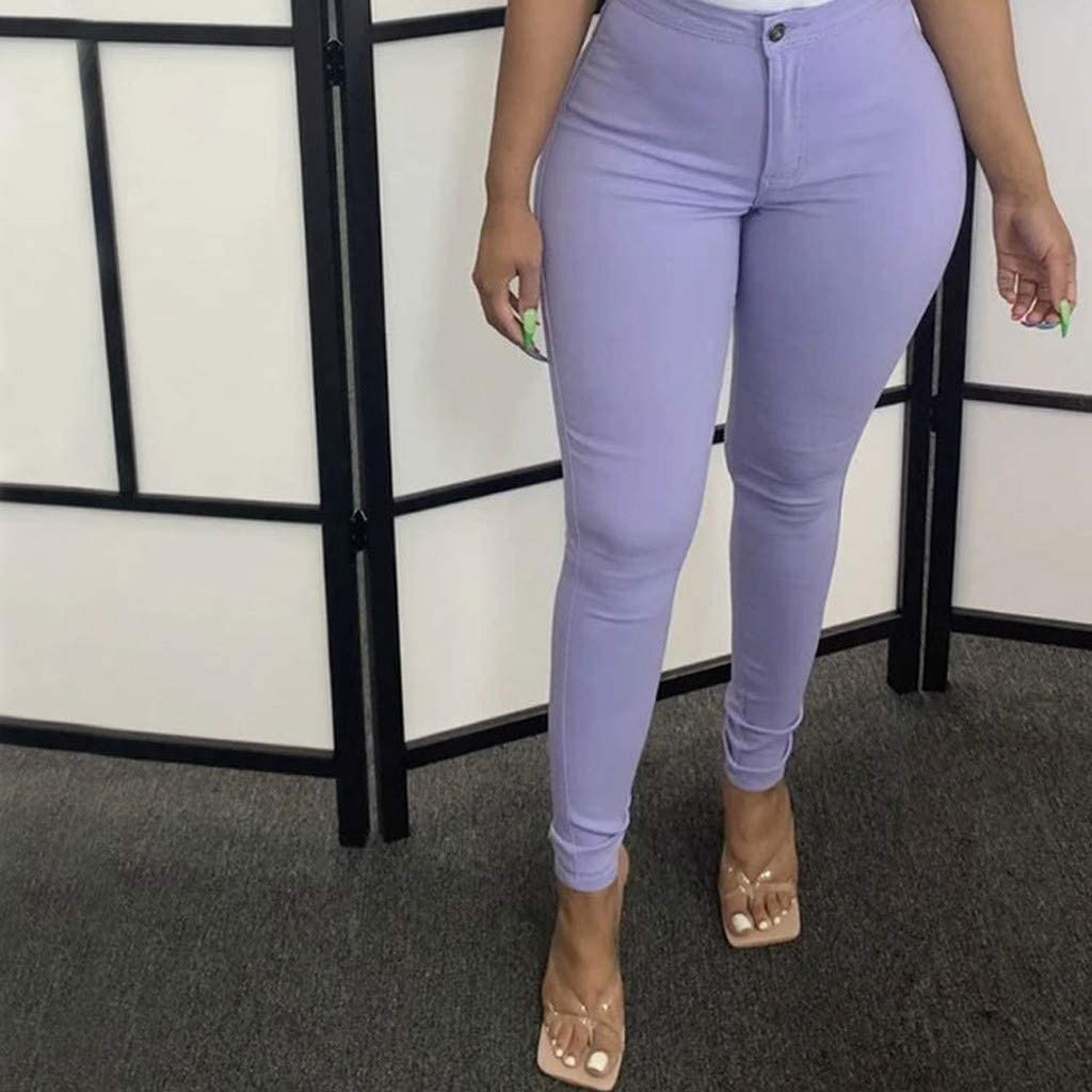 LEIYAN Womens High Waist Capri Yoga Pants Stretchy Casual Skinny Hip Lift Leggings Compression Trousers S-3XL