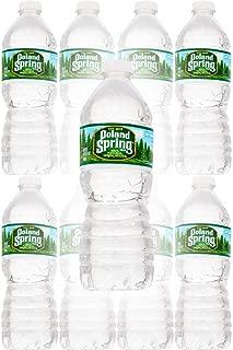 Poland Spring 100% Natural Spring Water, 16.9oz Bottle (Pack of 8, Total of 135.2 Fl Oz)