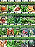 Set of 20 Vegetable & Melon Seeds Perfect for Your Home Garden 20 Varieties-All Seeds are Heirloom, 100% Non-GMO, Non-Hybrid! USA Grown. by B&KM Farms. 20 Different Varieties. (20 Variety Seed Pack)