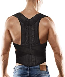 "Comfort Posture Corrector Back Support Brace Improve Posture and Provide Lumbar Support for Lower and Upper Back Pain for Men and Women Full Adjustable Elastic Straps (27.5""-49.2"" Waist)"