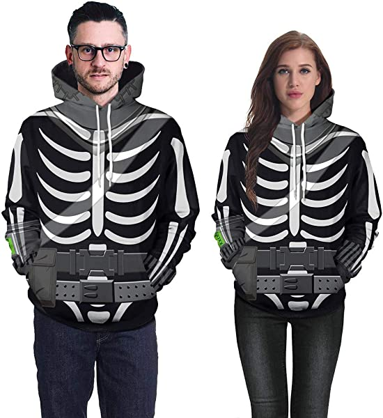 Sweatshirt For Couple BXzhiri Couple S Scary Halloween Tops Lover Mens Casual 3D Print Party Long Sleeve Hoodie