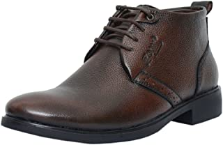 Zoom Mens Genuine Leather Formals Shoes B-091-Brown