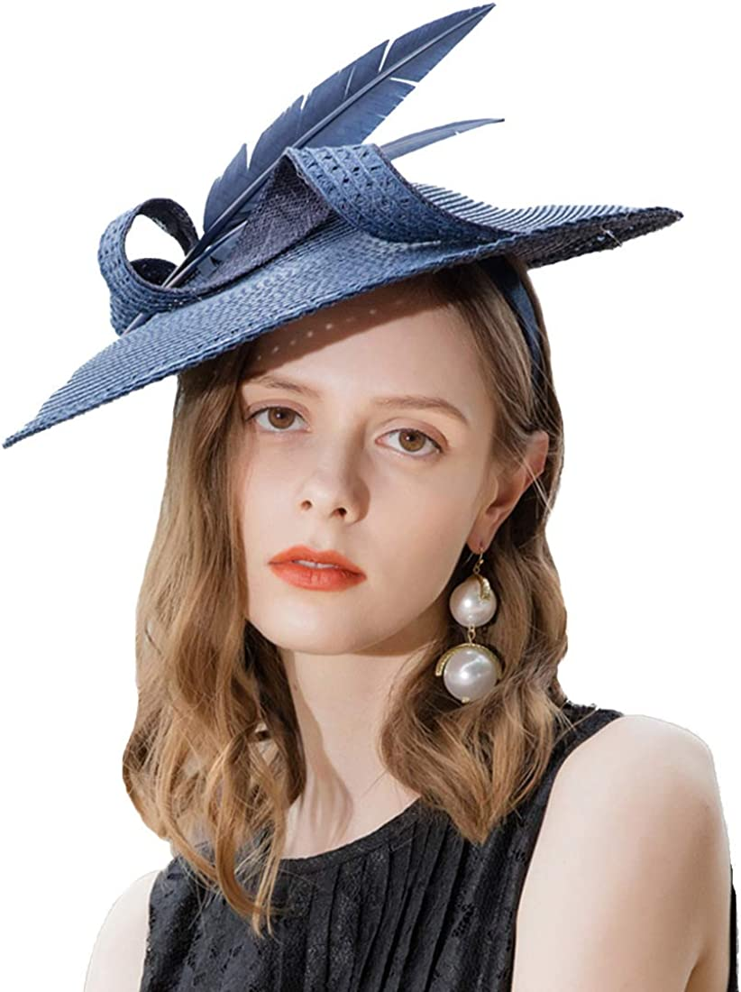 FADVES Disc Saucer Fascinator Hat for Race Horse Weddings SEAL Deluxe limited product Women
