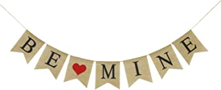 BE Mine Burlap Banner | Valentine's Day Decorations | Valentine's Day Banner | Be Mine Bunting Garland | Valentines Photo Props | Valentines Decor