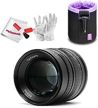Objetivo 7artisans 55mm F1.4 para Fuji X Mount cámaras X-A1 x-a10 X-A2 x-a3 x-at X-M1 X-T1 X-T10 x-t2 XM2 X-Pro2 x-t20 X-Pro1 X-E1 X-E2 X-E2s (Black)