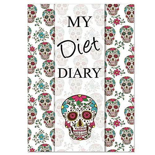 Diet Diary, Slimming & Weight Loss, Sugar Skull Cover, Activity and Weight...