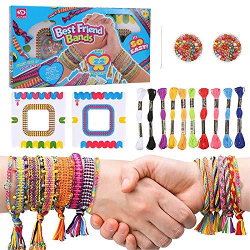 tiopeia Kit Bracelet d'Amitié Bresilien Colorées pour la Fabrication de Bracelet Filles Bijoux Bracelet Bricolage Craft Pochette Cadeau Anniversaire Fille