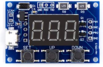 BBOXIM 1PCS DC Micro USB 5V Independent PWM Generator 2 Channel Dual Way Digital LED Duty Cycle Pulse Frequency Board Module for Uno R3